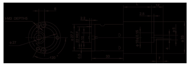 齿轮箱Motor_33JPF2833_Outline绘图